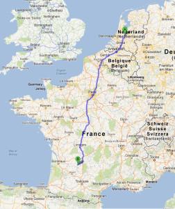 Medoc frankrijk kaart